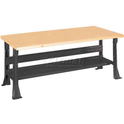 "Equipto C-Channel Fixed Height Workbench - Shop Top Square Edge 48""W x 30""D x 34""H Black"