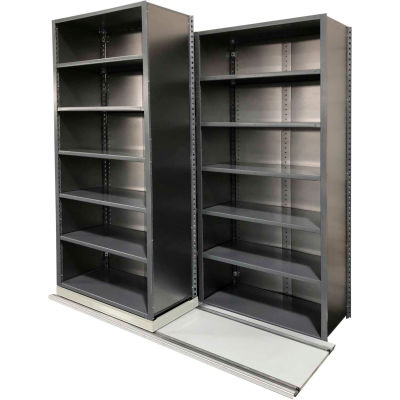 """Lateral File Storage Unit - 36""""W x 18""""D - (3) Stationary (2) Mobile - Smooth Office Gray"""
