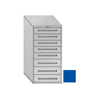 """Equipto 30""""Wx59""""H Modular Cabinet 8 Drawers w/Dividers, & Lock-Textured Regal Blue"""