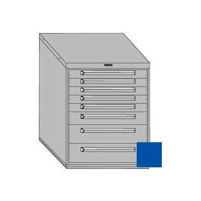 "Equipto 30""W Modular Cabinet 8 Drawers No Divider, 38""H, No Lock-Textured Regal Blue"
