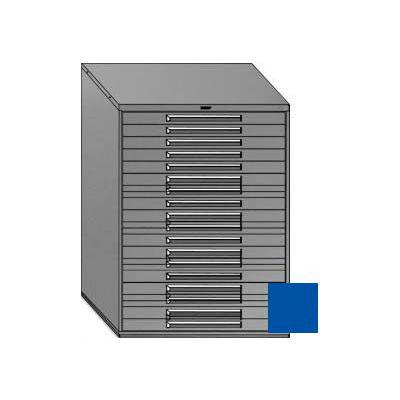 "Equipto 45""W Modular Cabinet 18 Drawers No Divider, 59""H & Lock-Textured Regal Blue"