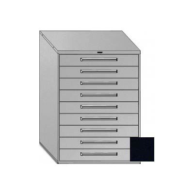 "Equipto 45""W Modular Cabinet 9 Drawers No Divider, 59""H, No Lock-Textured Black"