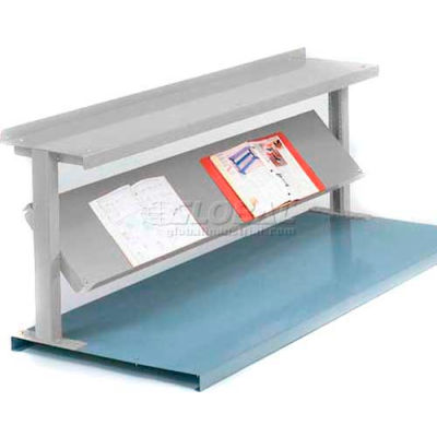 """Equipto® Production Booster 452T48-LG, 48""""W X 24""""H, 2 Shelves, Dove Gray"""