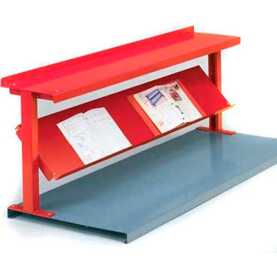 """Equipto® Production Booster 452T48-RD, 48""""W X 24""""H, 2 Shelves, Cherry Red"""