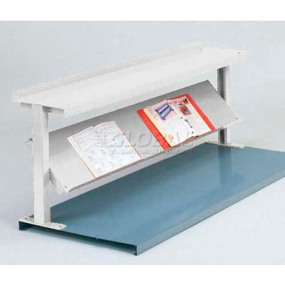 """Equipto® Production Booster 452T60-WH, 60""""W X 24""""H, 2 Shelves, Reflective White"""