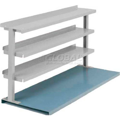 """Equipto® Production Booster 463T60-LG, 60""""W X 36""""H, 3 Shelves, Dove Gray"""