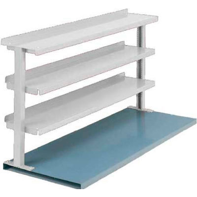 "Equipto® Production Booster 463T60-WH, 60""W X 36""H, 3 Shelves, Reflective White"