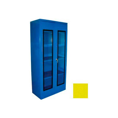 Equipto Additional Shelf for 36 x 24 Quick View Storage Cabinet - Textured Safety Yellow