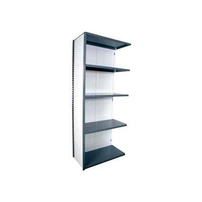 "Equipto Vg Closed Shelf Add On Unit - 36"" W X 18""D X 84"" H W/ 5 Shelves, Textured Regal Blue"
