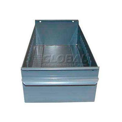 "Equipto Metal Shelf Drawer 8504 - 4-1/4""W x 11""D x 3-1/8""H, Smooth Office Gray - Pkg Qty 3"