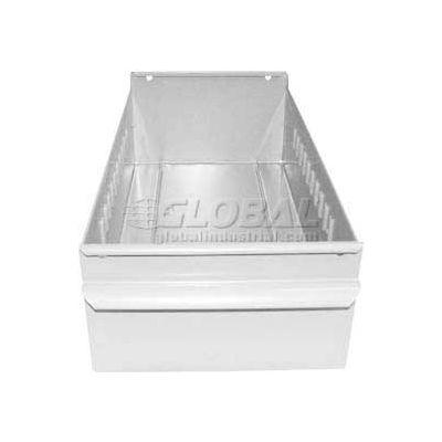 "Equipto Metal Shelf Drawer 8504 - 4-1/4""W x 11""D x 3-1/8""H, Smooth Reflective White - Pkg Qty 3"