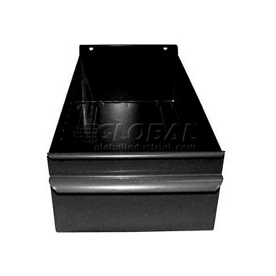 "Equipto Individual Metal Shelf Drawer, 4-1/4""W x 17""D x 3-1/8""H, Textured Black"