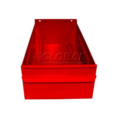 "Equipto Metal Shelf Drawer 8539 - 4-1/4""W x 17""D x 3-1/8""H, Textured Cherry Red - Pkg Qty 3"