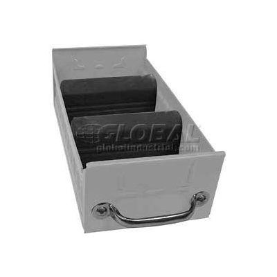 "Equipto Individual Metal Shelf Drawer, 5-5/8""w x 17""D x 3-1/8""H, Textured Dove Gray"