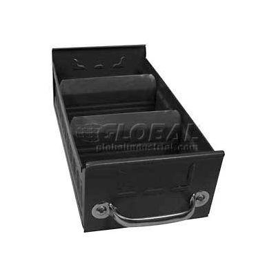 "Equipto Metal Shelf Drawer 8540 - 5-5/8""w x 17""D x 3-1/8""H, Textured Evergreen - Pkg Qty 3"