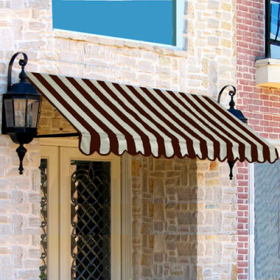 Awntech ER23-10BRNT, Window/Entry Awning 10-3/8'W x 2'H x 3'D Brown/Tan
