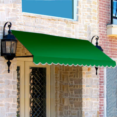 """Awntech ER1836-5F, Window/Entry Awning For Low Eaves 5' 4-1/2""""W x 3'D x 1' 6""""H Forest Green"""