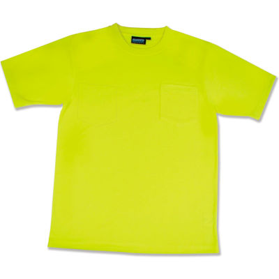 Aware Wear® Non-ANSI Hi-Vis T-Shirt, 14107 - Lime, Size M