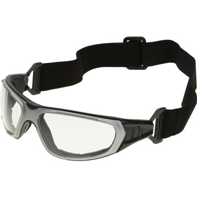 NT2 Interchangeable Safety Glasses, ERB Safety, 17997 - Gray Frame, Clear Anti-Fog Lens - Pkg Qty 12