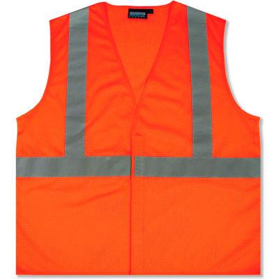 Aware Wear® ANSI Class 2 Economy Mesh Vest, 61438 - Orange, Size 4XL