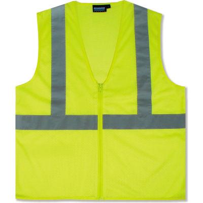 Aware Wear® ANSI Class 2 Economy Mesh Vest, 61451 - Lime, Size 5XL