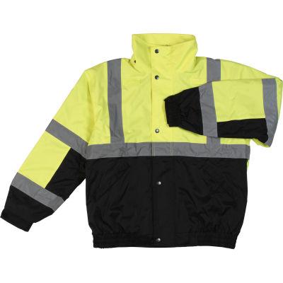 Aware Wear® Winter Wear ANSI Class 2 Bomber Jacket, 61597 - Lime/Black, Size 5XL