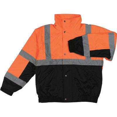 Aware Wear® Winter Wear ANSI Class 2 Bomber Jacket, 61605 - Orange/Black, Size 2XL