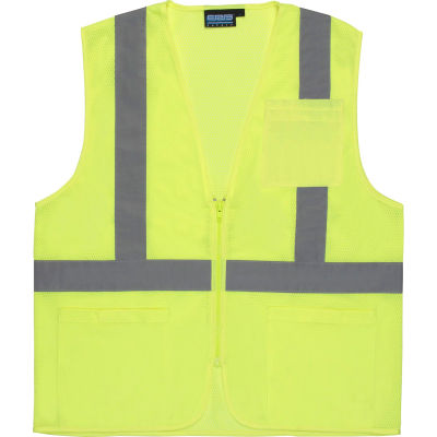Aware Wear® ANSI Class 2 Economy Mesh Vest, 61651 - Lime, Size 3XL
