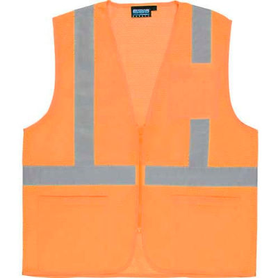 Aware Wear® ANSI Class 2 Economy Mesh Vest, 61661 - Orange, Size 2XL