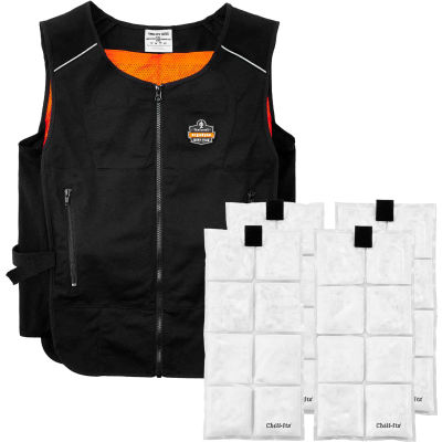 Ergodyne® Chill-Its® 6260 Lightweight Phase Change Cooling Vest W/ Packs, S/M, 12133