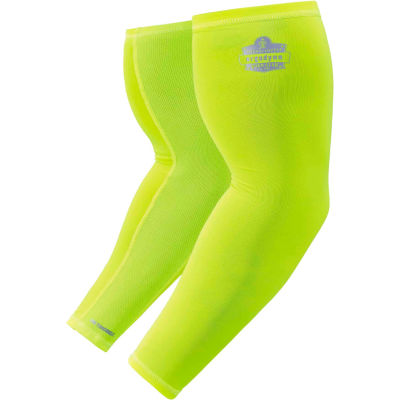 Ergodyne® Chill-Its® 6690 Cooling Arm Sleeves, Lime, L, 12284