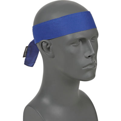 Ergodyne® Chill-Its® 6700 Evaporative Cooling Bandana - Tie, Solid Blue, One Size