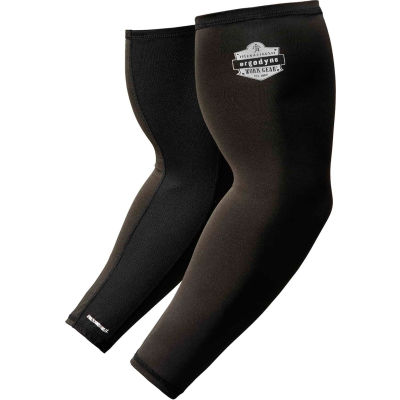 Ergodyne® Chill-Its® 6690, Cooling Arm Sleeves, Black, M, 12383