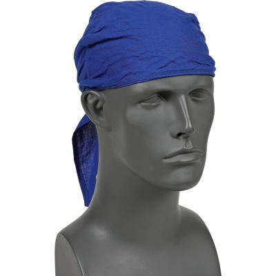 Ergodyne® Chill-Its® 6710CT Evap. Cooling Triangle Hat w/ Built-In Cooling Towel, Blue