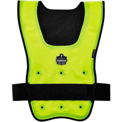 Ergodyne® Chill-Its® 6687 Economy Dry Evaporative Cooling Vest, Lime, L/XL, 12685