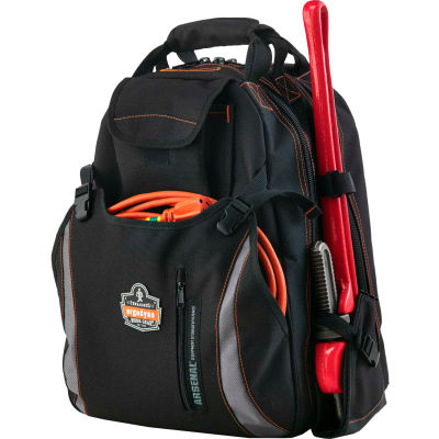 """Arsenal® 5843 Tool Backpack Dual Compartment , 19""""L x 16""""W x 9""""H, Gray"""
