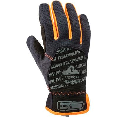 Ergodyne® ProFlex® QuickCuff™ 815 High Dexterity Utility Glove, Black, 2XL, 17206