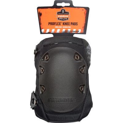 Ergodyne® ProFlex® 335 Slip-Resistant Rubber Cap Knee Pad, Black Cap, One Size