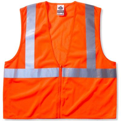 Ergodyne® GloWear® 8210Z Class 2 Economy Vest, Orange, S/M