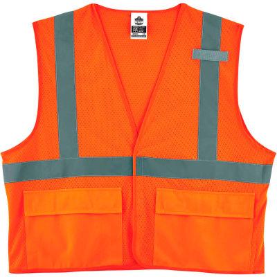 Ergodyne® GloWear® 8220HL Class 2 Standard Vest, Orange, S/M