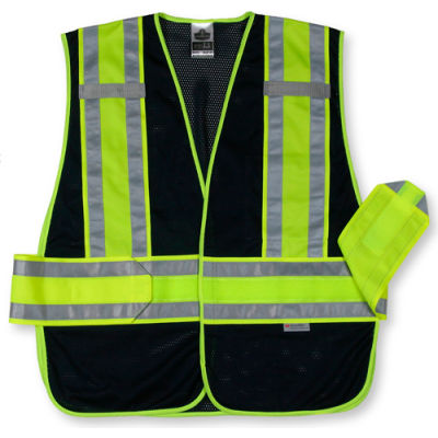 Ergodyne® GloWear® 8240HL Class 2 Two-Tone Expandable Vest, Navy, XL/2XL