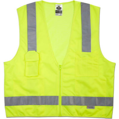 Ergodyne® GloWear® 8250Z Class 2 Surveyors Vest, Lime, 2XL/3XL