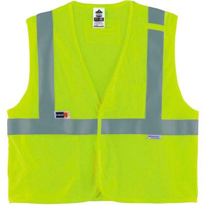 Ergodyne® GloWear® 8260FRHL Class 2 FR Modacrylic Vest, Lime, 4XL/5XL