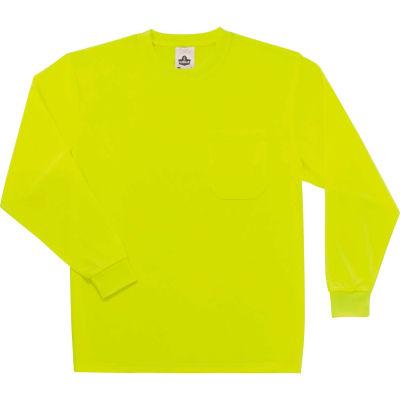 Ergodyne® GloWear® 8091 Non-Certified Long Sleeve T-Shirt, Lime, S