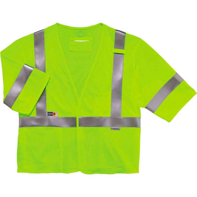 Ergodyne® GloWear® 8356FRHL Class 3 FR Modacrylic Vest - Lime, 22213