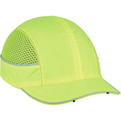 Ergodyne® Skullerz® 8960 Bump Cap W/LED Lighting Technology, Lime, Short Brim, One Size