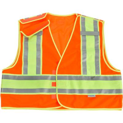 Ergodyne® GloWear® 8245PSV Public Safety Vest, Orange, 6XL/7XL