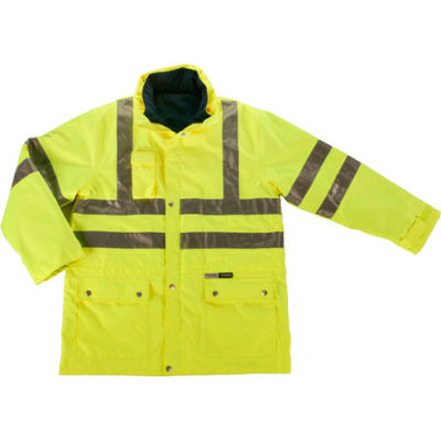 Ergodyne® GloWear® 8385 Class 3 4-in-1 Jacket, Lime, 4XL