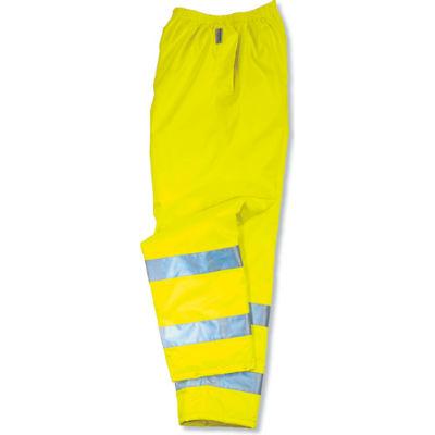 Ergodyne® GloWear® 8915 Class E Rain Pants, Lime, 3XL