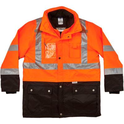 Ergodyne®GloWear® 8388 Hi Vis Class 3/2 Thermal Jacket, Type R Class, Orange, M, 25553